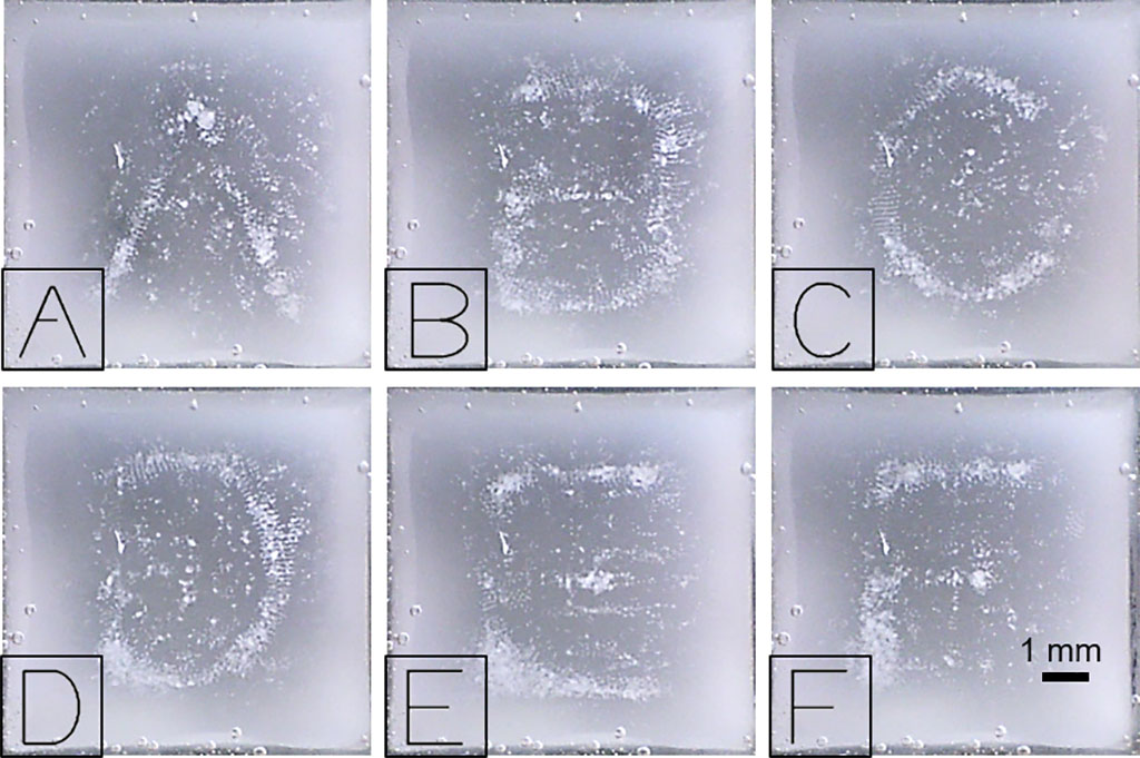 Image: Letters of the alphabet generated using modulated sound pressure profiles (Photo courtesy of MPI-IS)