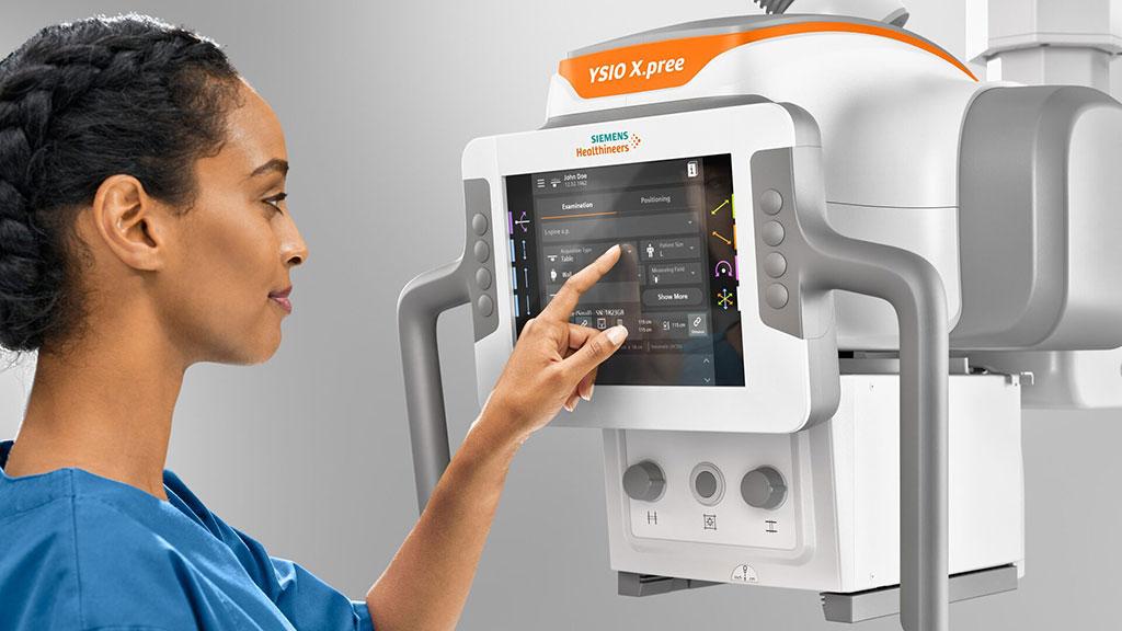 Image: The new MyExam Companion touchscreen of the YSIO X.pree (Photo courtesy of Siemens Healthineers)