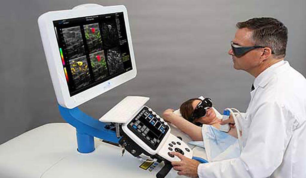 Image: A novel breast imaging system fuses optoacoustics and ultrasound (Photo courtesy of Seno Medical)