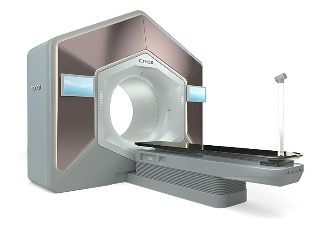 Image: The Ethos adaptive radiation therapy system (Photo courtesy of Varian)