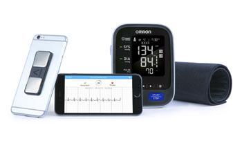 Мобильное приложение Kardia для iOS с данными измерения артериального давления от компании Omron (фото любезно предоставлено AliveCor).