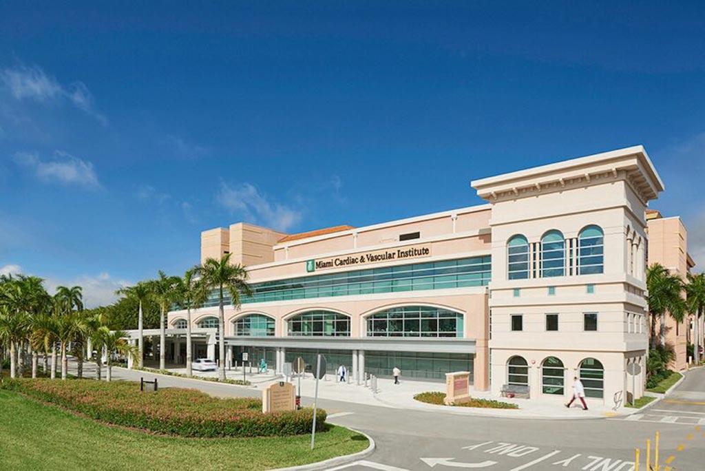 Новый мультидисциплинарный Институт сердечно-сосудистой помощи Майами (фото любезно предоставлено Baptist Health в Южной Флориде).