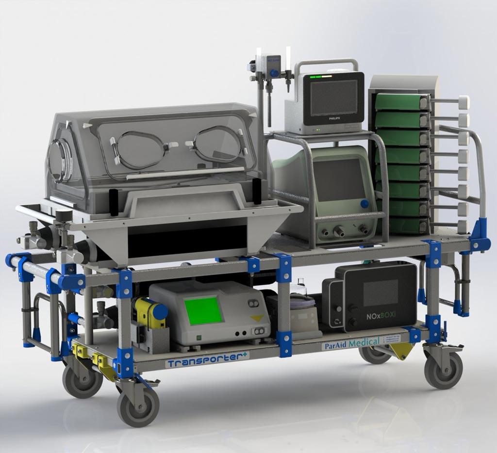 Носилки со специальным интерфейсом способны спасти жизни новорожденных во время транспортировки в машине скорой помощи (фото любезно предоставлено Бирмингемским городским университетом).