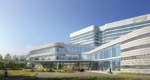 Визуализация новой больницы Columbia Jiaxing (изображение любезно предоставлено Columbia China).