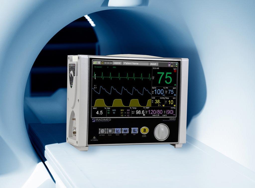 Iradimed 3880 – МРТ-совместимая система мониторинга основных показателей жизнедеятельности пациента (фото предоставлено Iradimed).