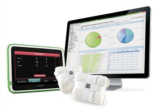 Новая система подсчитывает хирургические губки, используемые во время операции (фото любезно предоставлено Stryker).