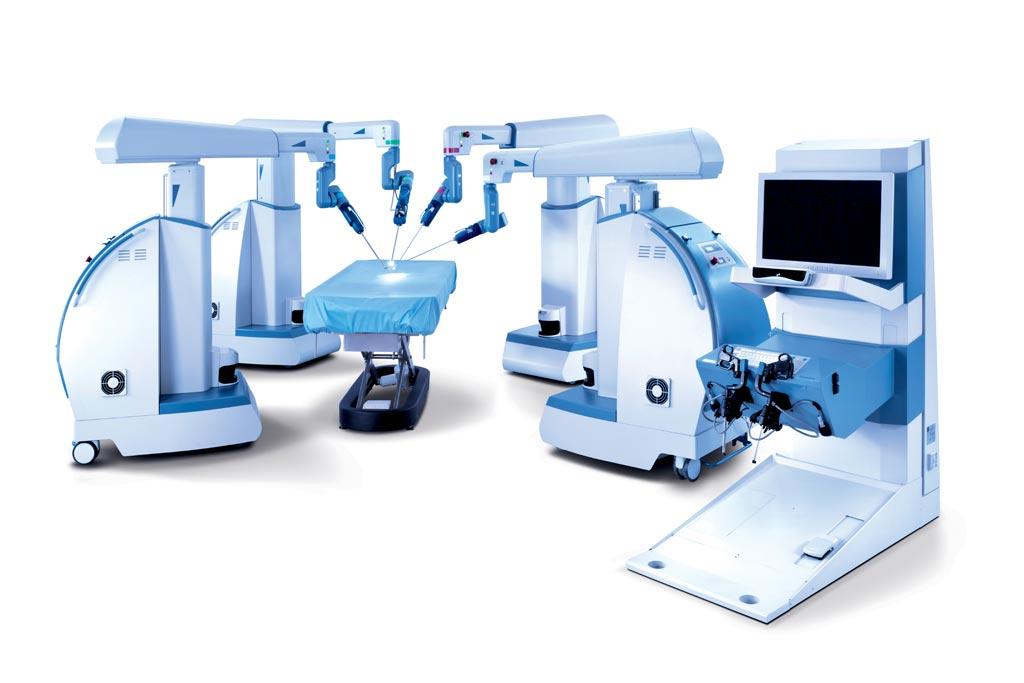 Новая многопортовая роботизированная система обеспечивает тактильную обратную связь и контроль за движением глаз (фото любезно предоставлено TransEnterix).