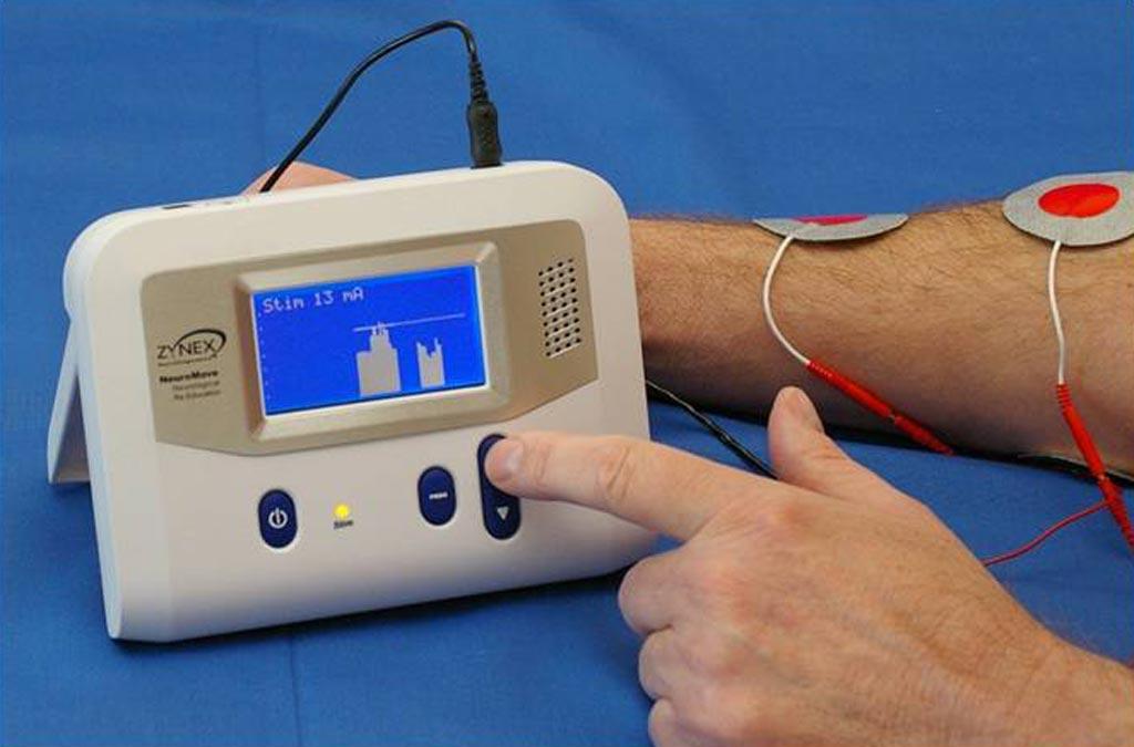 Устройство с электромиографической обратной связью помогает пациентам восстанавливать контроль над мышцами (фото любезно предоставлено Zynex).