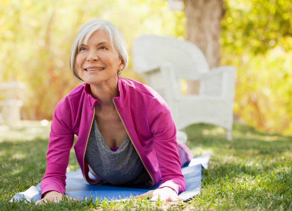 В новом исследовании предполагается, что йога может помочь женщинам бороться с НМ (фото любезно предоставлено Getty Images).