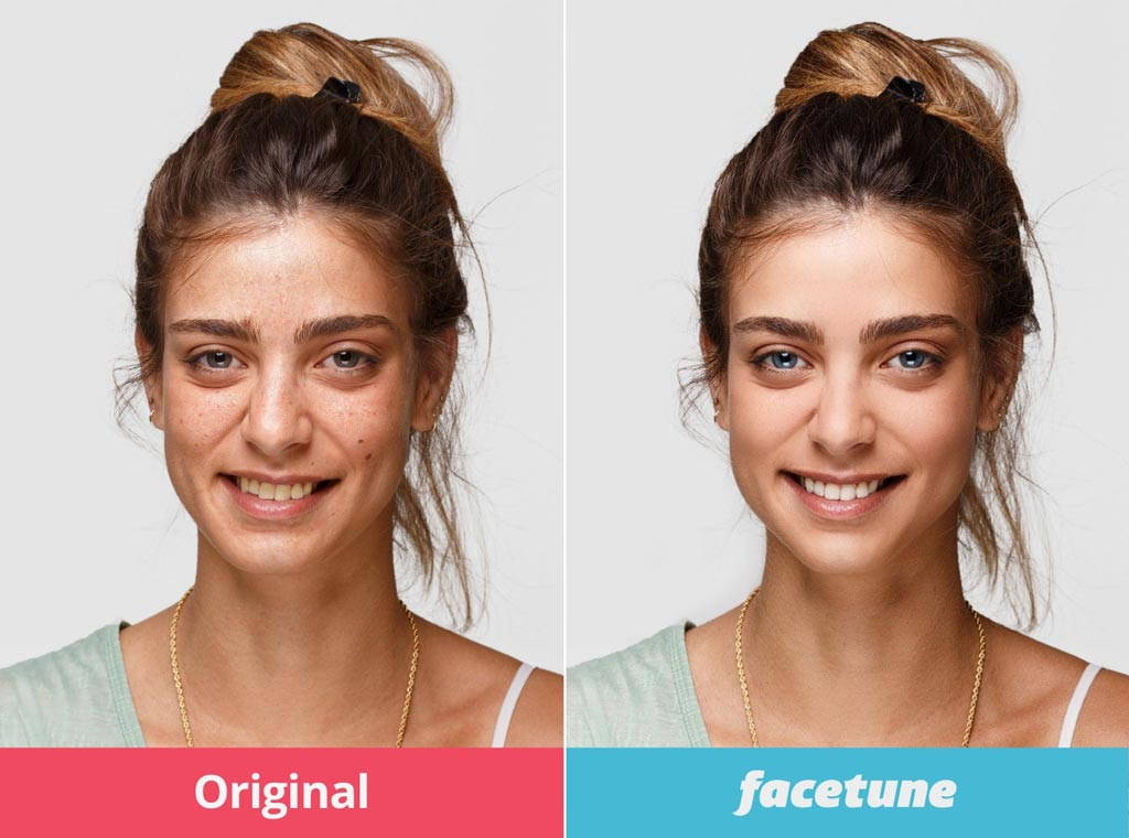 Новая точка зрения утверждает, что сильно отредактированные селфи поднимают спрос на эстетическую хирургию (фото любезно предоставлено Facetune).