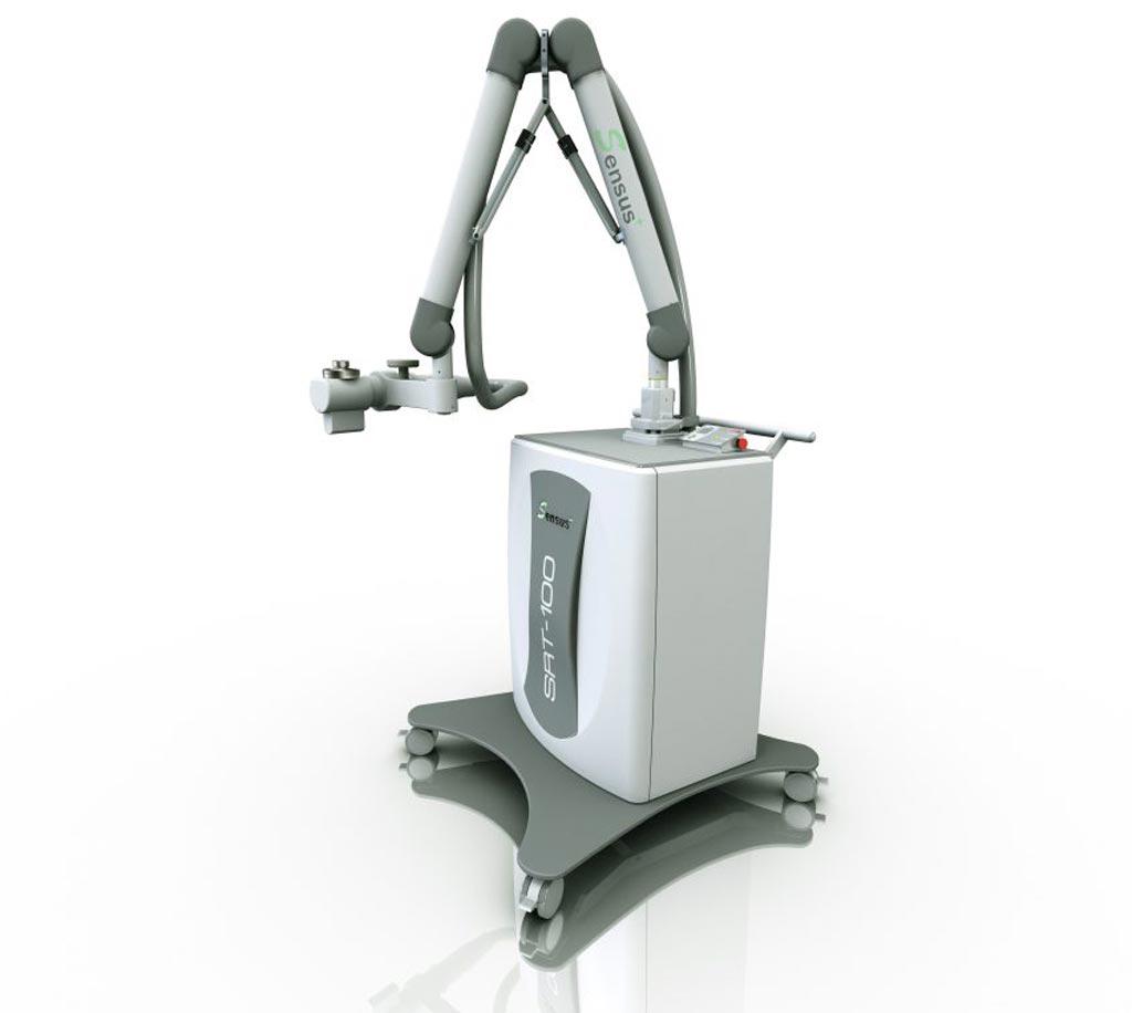 Поверхностное рентгеновское излучение может быть точно нацелено на рубцовую ткань (изображение предоставлено Sensus Healthcare).