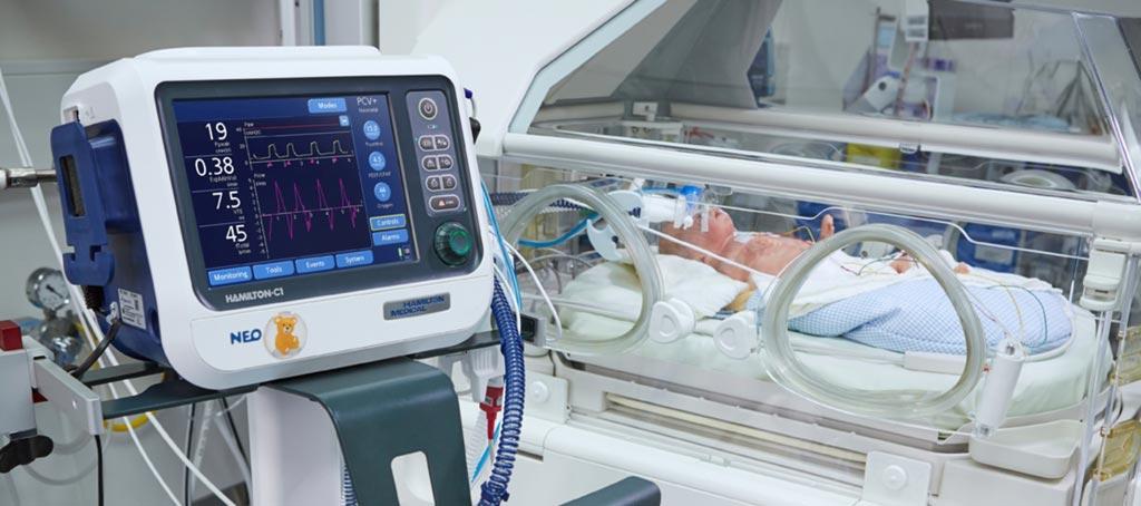 Преждевременные роды с респираторными расстройствами и смертностью приводят к росту спроса на различные неонатальные вентиляторы во всем мире (фото любезно предоставлено Hamilton Medical).