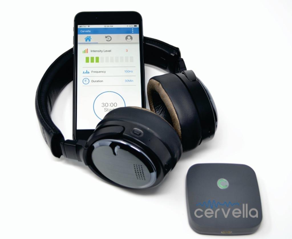 CES и наушники, предназначенные для лечения эмоциональных расстройств (фото любезно предоставлено Innovative Neurological Devices).