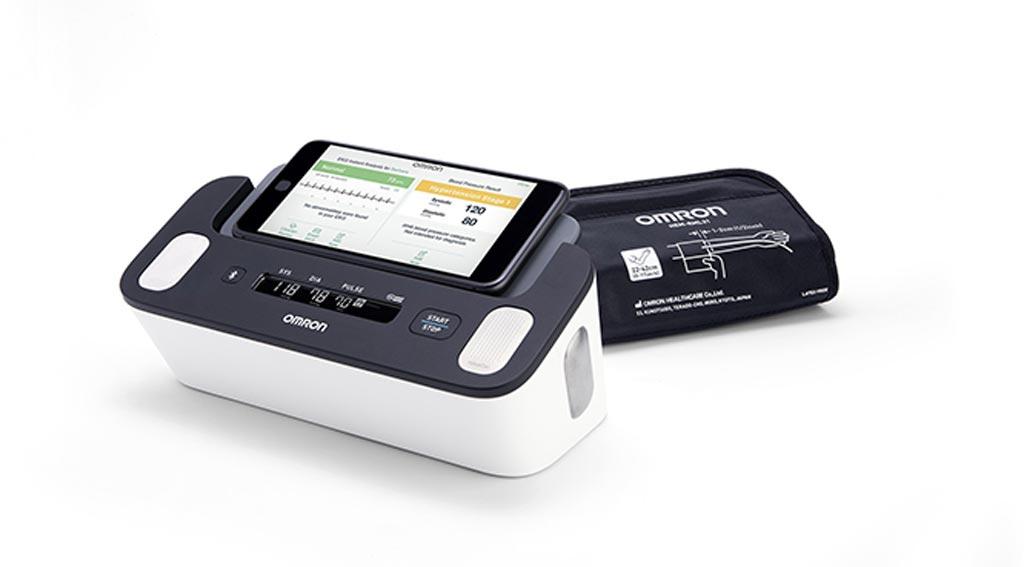 В устройстве Omron Complete объединены мониторинг АД и ФП (фото любезно предоставлено Omron Healthcare).