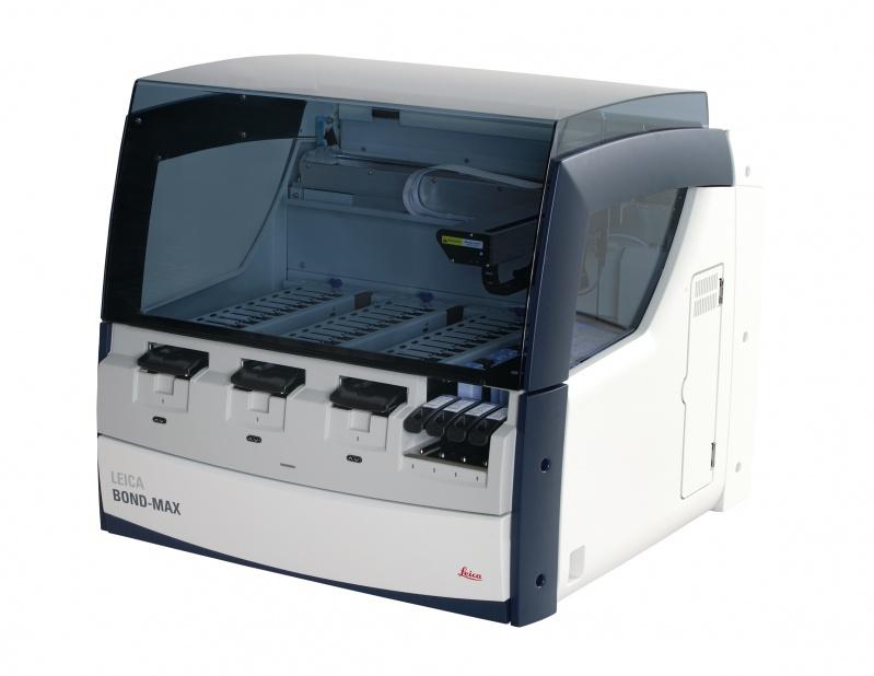 Автоматизированный прибор для проведения иммуноокрашивания Bond-Max (фото любезно предоставлено компанией LEICA).