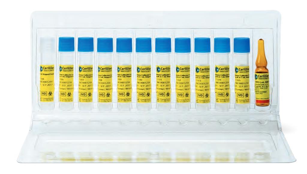 Сертифицированные справочные материалы The Cerilliant включают первый калибровочный комплект с маркировкой СЕ, который позволяет проводить широкодиапазонный диагностический анализ тестостерона у мужчин, женщин и детей (фото любезно предоставлено Merck).