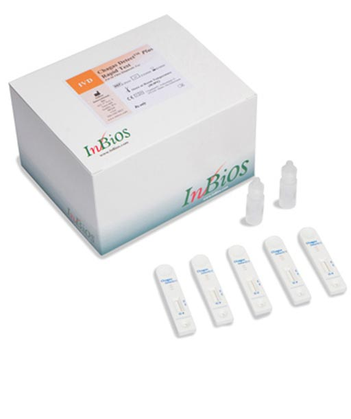 Тест для использования на месте оказания медицинской помощи выявляет болезнь Шагаса и обладает маркировкой СЕ (фото любезно предоставлено компанией InBios).