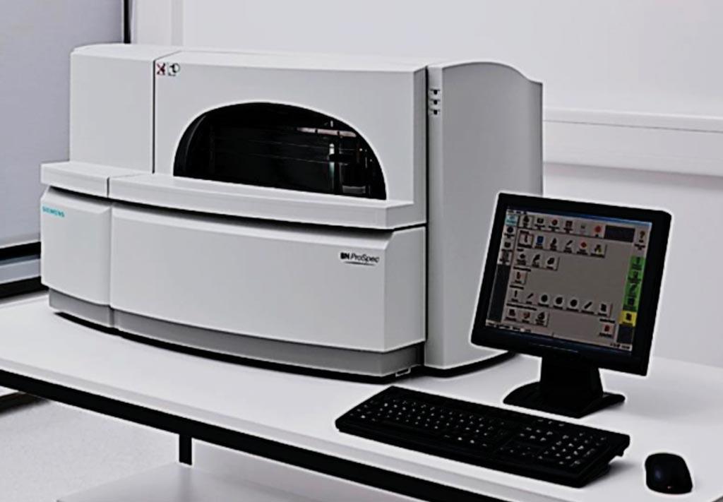 Система BN Prospec System для проведения анализа методом иммунотурбидиметрии с латексным усилением (фото любезно предоставлено компанией Siemens Healthineers).
