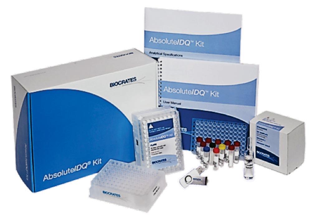 Комплект AbsoluteIDQ p180 идентифицирует и количественно оценивает более 180 метаболитов из пяти различных классов соединений (фото предоставлено Biocrates Life Sciences).