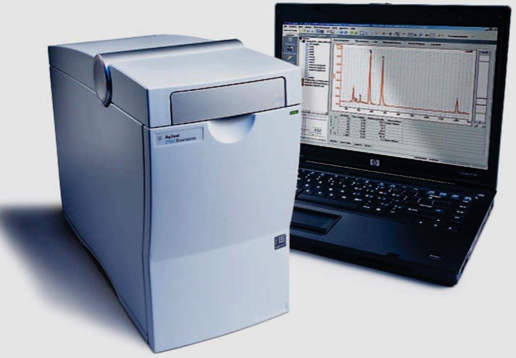 Биоанализатор Agilent 2100 представляет собой платформу на основе микрогидродинамики для определения размеров, количественной оценки и контроля качества ДНК, РНК, белков и клеток (фото любезно предоставлено CORELAB).