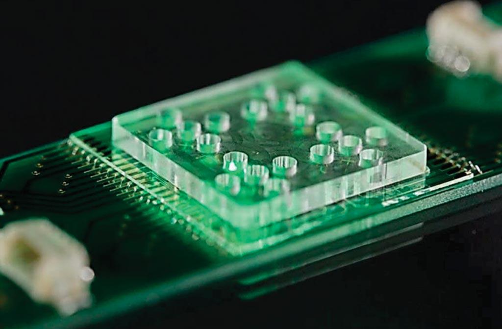Система лаборатории на чипе, используемая со спектроскопией комбинационного рассеяния для определения устойчивости к антибиотикам (фото любезно предоставлено институтом фотонных технологий им. Лейбница (Leibniz-Institute of Photonic Technology)).
