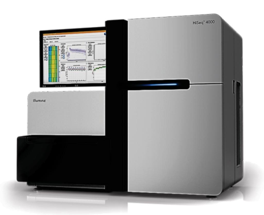 HiSeq 4000 Systems использует инновационную технологию структурированных проточных ячеек для обеспечения быстрого и высокопроизводительного секвенирования (фото любезно предоставлено Illumina).