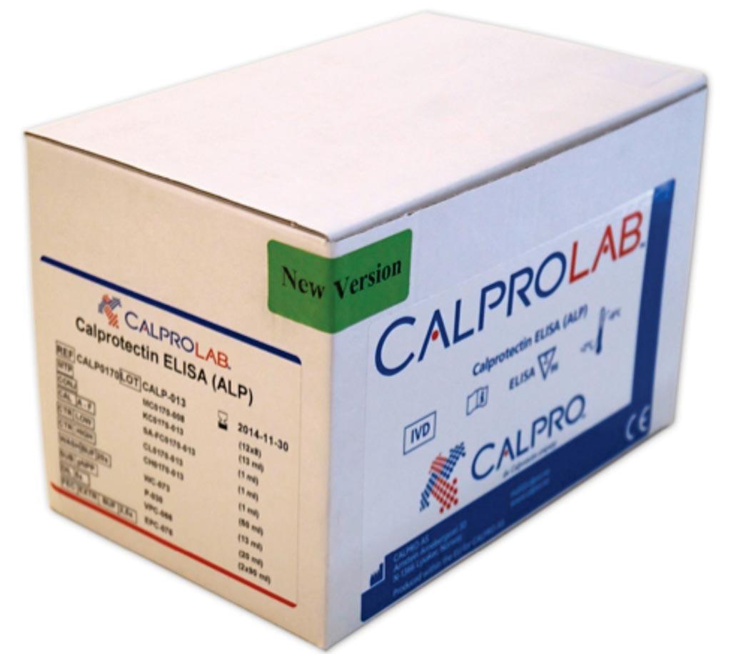 Тест-набор Calprolab для иммуноферментного анализа (ELISA ALP), позволяющий оценить уровень кальпротектина (фото любезно предоставлено Calpro).