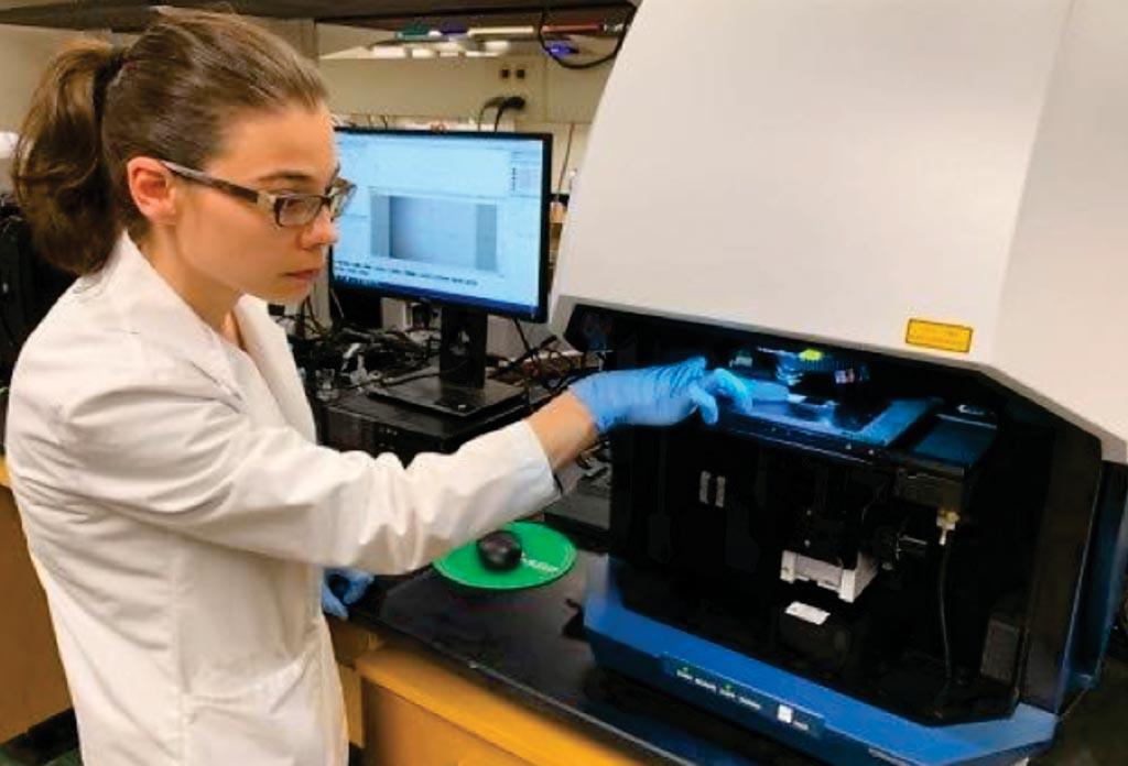 Аспирантка использует новый диагностический инструмент, измеряющий метаболическую активность в крови, что позволяет отличить фибромиалгию от других состояний с хронической болью с почти 100% точностью (фото любезно предоставлено Университетом штата Огайо).